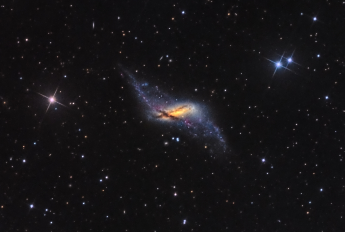 NGC 660 - The Polar Ring Galaxy (HaLRGB)