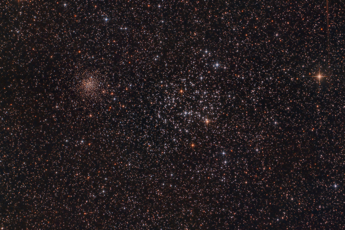 M35 & NGC 2158 - open clusters