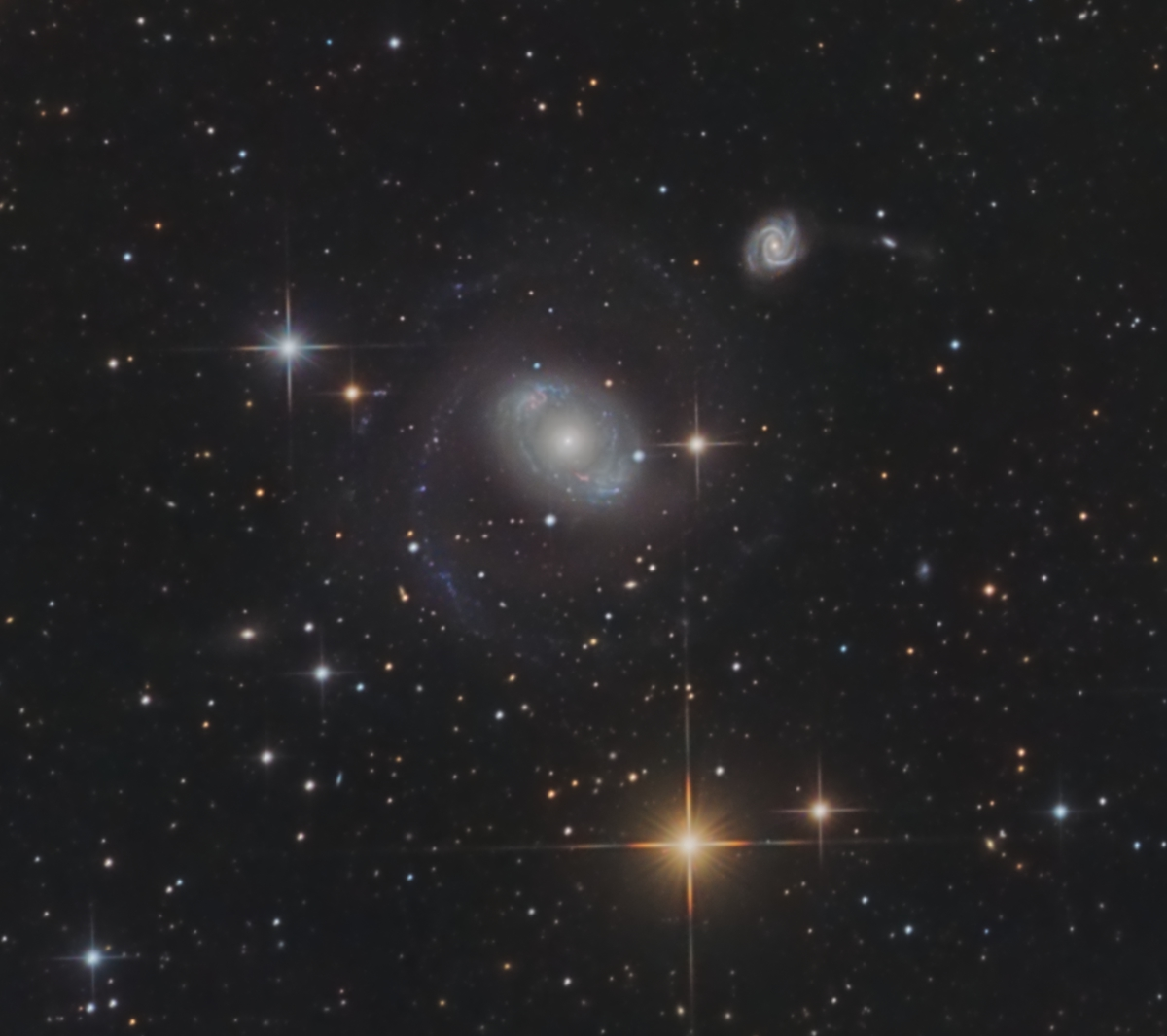 NGC 4151 and Friends (HaLRGB)